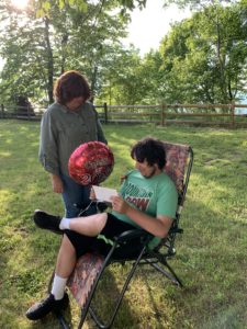 socially distanced picnic